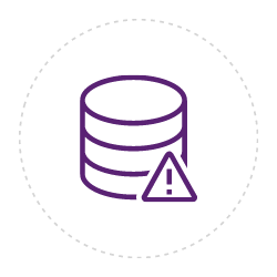 Risky data icon for the page Ecommerce Reconciliation on CALIXYS